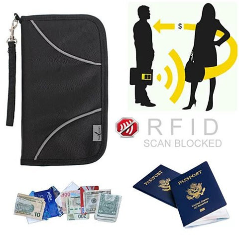 SAFE JOURNEY RFID BLOCKER Passport and Credit Card Protector Wallet - VistaShops - 2