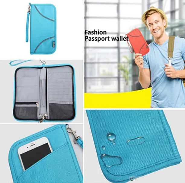 SAFE JOURNEY RFID BLOCKER Passport and Credit Card Protector Wallet - VistaShops - 3