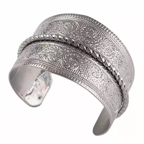 SURFINA Surf The Waves Silver Cuff Bracelet - VistaShops - 2