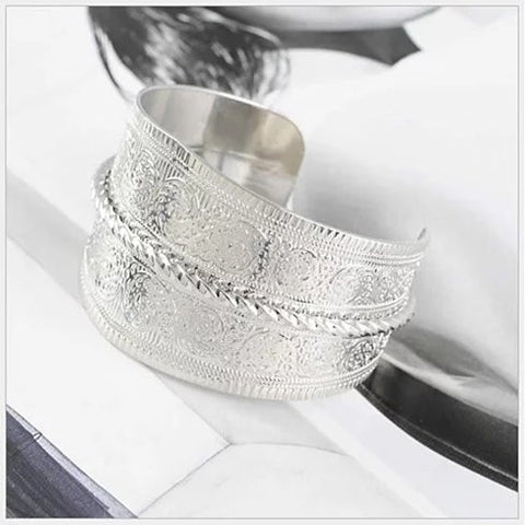SURFINA Surf The Waves Silver Cuff Bracelet - VistaShops - 3