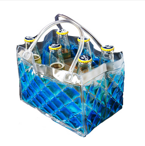 CHILL at WILL The 6 pack Beer Freezer Bags in various colors - VistaShops - 2