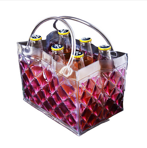 CHILL at WILL The 6 pack Beer Freezer Bags in various colors - VistaShops - 5