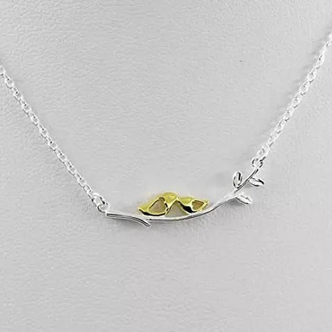 Sealed With A Kiss Bird Necklace in Sterling Silver 925 - VistaShops - 1