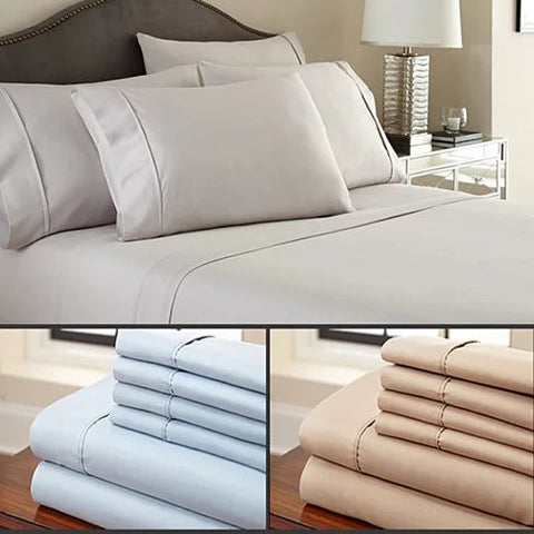 Simple Threads 6pc Set Super Cool Microfiber Bed Sheets Solid Colors 1800 TC - VistaShops - 1