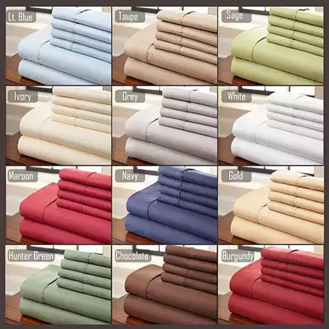 Simple Threads 6pc Set Super Cool Microfiber Bed Sheets Solid Colors 1800 TC - VistaShops - 2