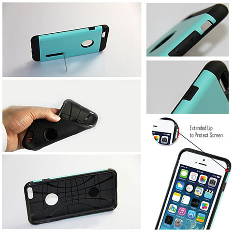 Slim Armour Double Layer Case for iPhone 6/6s/6Plus w/ Kick Stand - VistaShops - 4