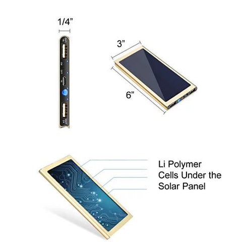Slim Giant Solar Power Extender For All Gadgets with 2 USB Ports - VistaShops - 3