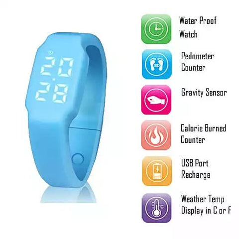 Smart and Simple Fitness Tracker Watch and Pedometer works without Smartphone - VistaShops - 2