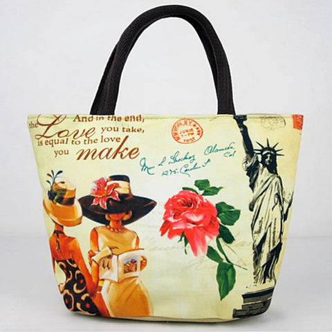 Souvenirs Hand Bags In Canvas From Journey Collection - VistaShops - 2