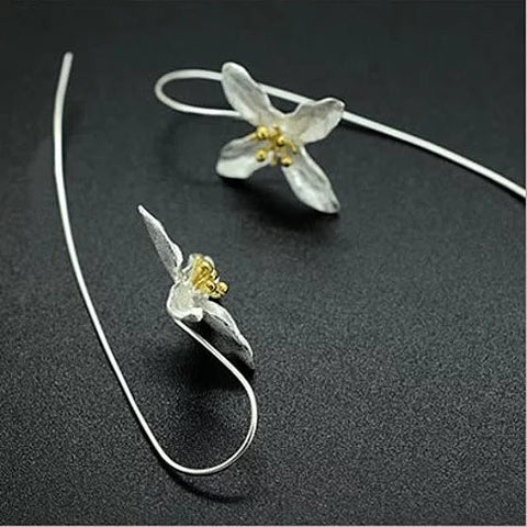 Straight from the Valley Amazing Flower Earrings made in Sterling Silver - VistaShops - 3
