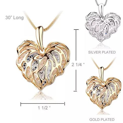 Sweet Memories The Treasures Of A Lifetime Necklace In Gold And Silver Plating - VistaShops - 3