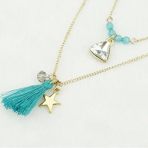 TASSEL AND TRINKETS Layered Necklace - VistaShops - 3