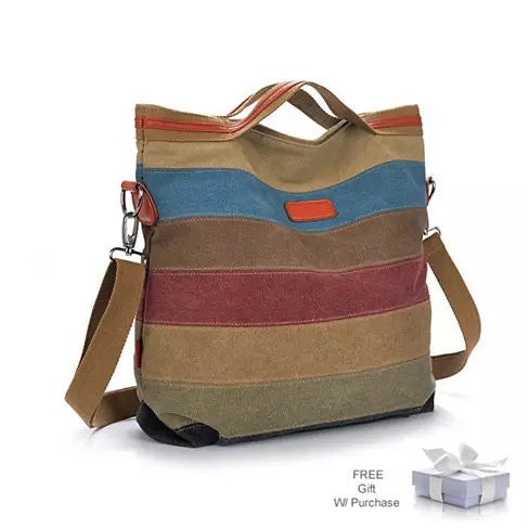 VIVA VOYAGE Living Large Canvas Bag From Journey Collection With FREE RFID BLOCKER WALLET - VistaShops - 1