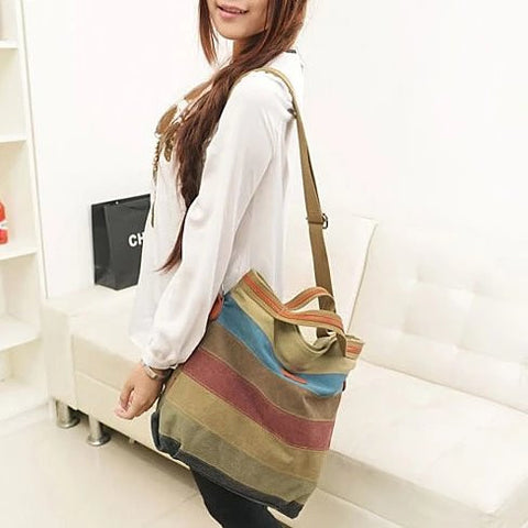 VIVA VOYAGE Living Large Canvas Bag From Journey Collection With FREE RFID BLOCKER WALLET - VistaShops - 3