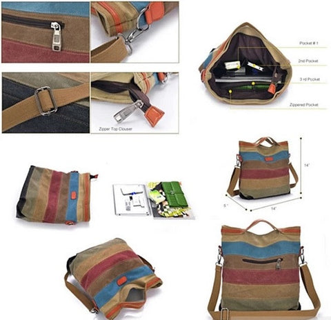 VIVA VOYAGE Living Large Canvas Bag From Journey Collection With FREE RFID BLOCKER WALLET - VistaShops - 4