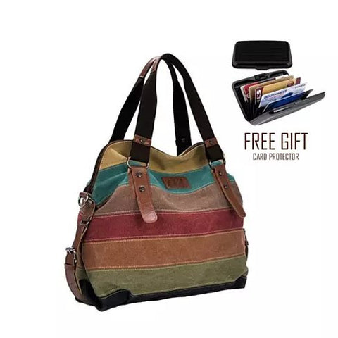 Viva Voyage Wild Zebra Journey Bag With FREE RFID Wallet - VistaShops - 1