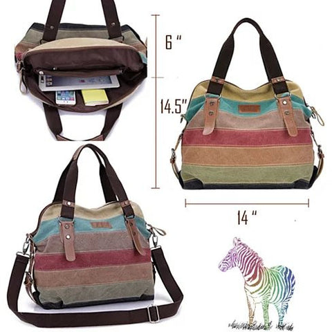 Viva Voyage Wild Zebra Journey Bag With FREE RFID Wallet - VistaShops - 4