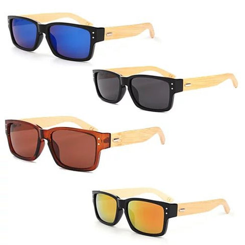 WANDERLUST SUNGLASSES ECO Friendly Made from Bamboo Wood And Recycled Plastic Material - VistaShops - 1