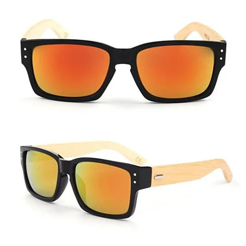 WANDERLUST SUNGLASSES ECO Friendly Made from Bamboo Wood And Recycled Plastic Material - VistaShops - 3