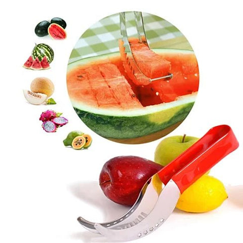 WOWZY RED Watermelon or any Melon Slicer and Cake Cutter - VistaShops - 1