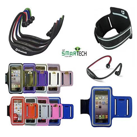 ARM BAND with Bluetooth wrap around headphones
