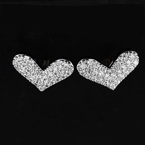 HEART BEATS - The Pave Heart Earrings - VistaShops - 1