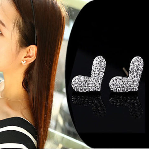 HEART BEATS - The Pave Heart Earrings - VistaShops - 3
