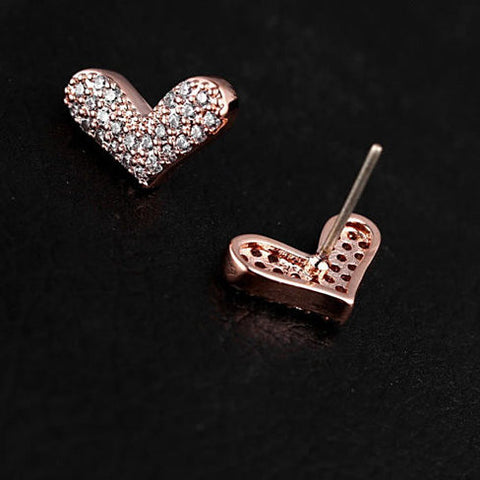 HEART BEATS - The Pave Heart Earrings - VistaShops - 4