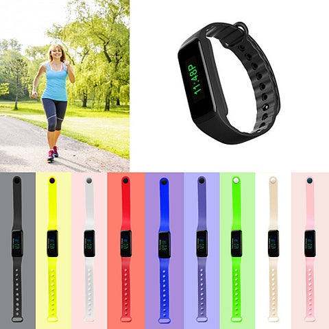 Big And Bright Screen LED Watch With Pedometer