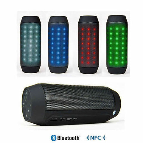 Bluetooth NFC Rainbow LED Lights and Music Speaker with FM Radio - VistaShops - 1