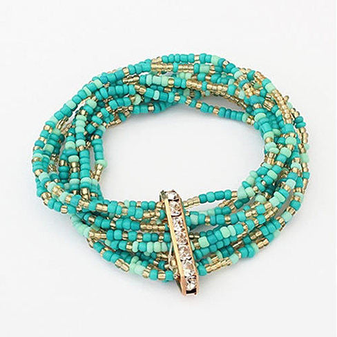Bohemian Bead Bracelet in Springy Colors - VistaShops - 1