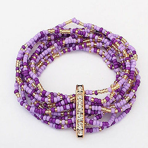 Bohemian Bead Bracelet in Springy Colors - VistaShops - 2