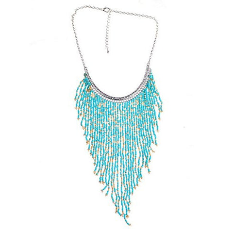 Bohemian Beads Waterfall Necklace - VistaShops - 1
