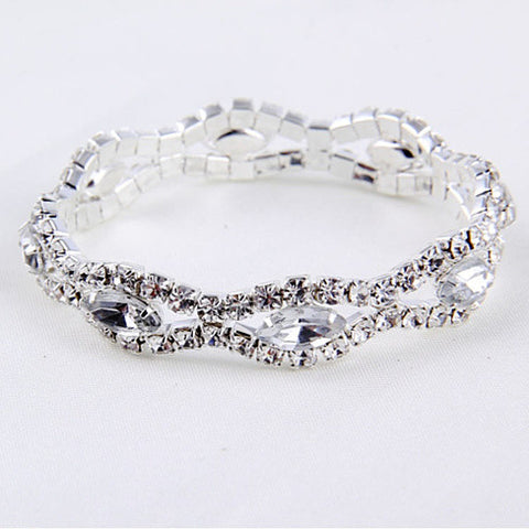Love Boat All Crystal Stretchable Bracelet