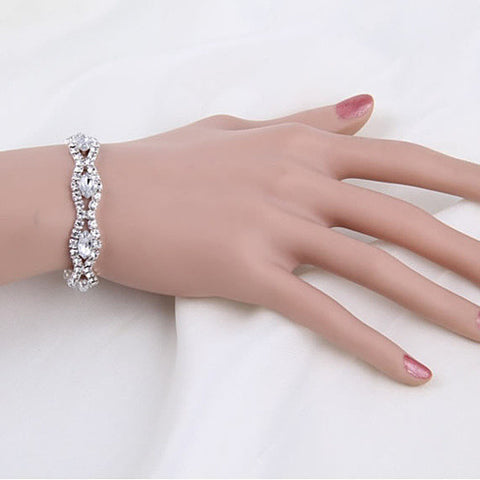 Love Boat All Crystal Stretchable Bracelet - VistaShops - 2