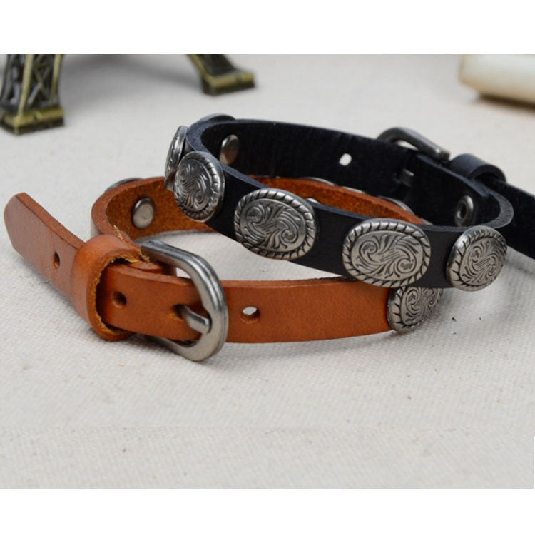 WRANGLER Vintage Look Genuine Leather Bracelet