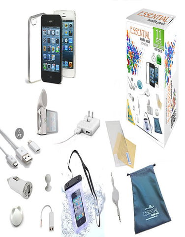 iPhone 5 Genius Collection - 11 Pcs of Essential Bundle Pack - VistaShops - 1