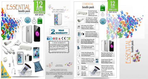 iPhone 6 Genius Collection - 12 pcs of Essential Bundle Pack - VistaShops - 3