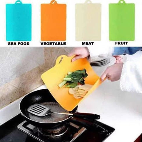 Chop & Pour - The Flexible Cutting Boards in Pack of 4 - VistaShops - 1