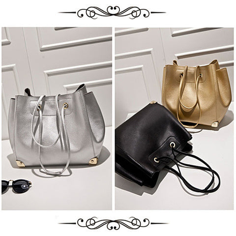 Class Appeal Handbags In Gold, Platinum And Classic Black - VistaShops - 2