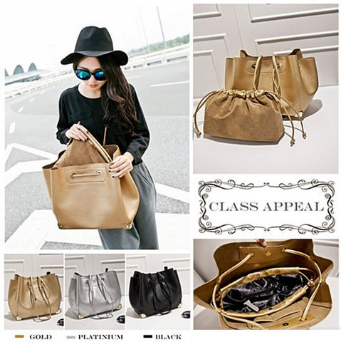 Class Appeal Handbags In Gold, Platinum And Classic Black - VistaShops - 3