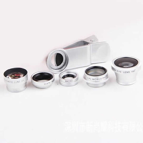 Clear Image with 5 Clip and Snap Lens for your Smartphone