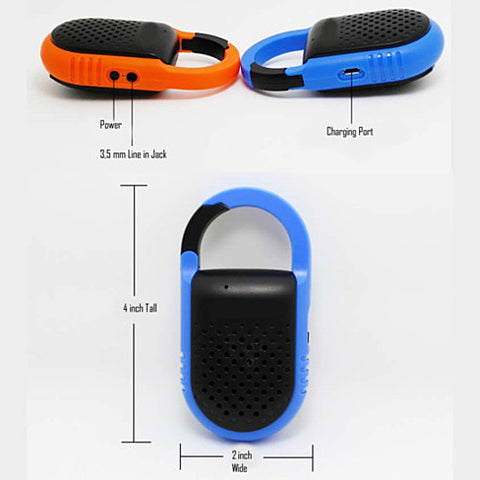 Clip N Go Bluetooth Speaker and Handsfree Speakerphone - VistaShops - 3