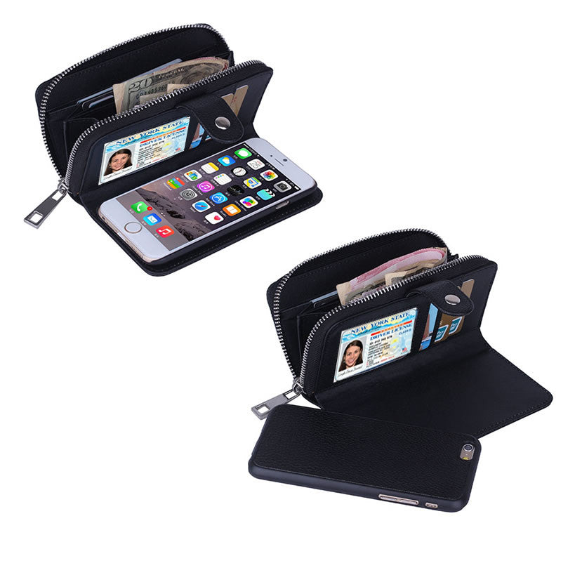 shopify-iPhone 6/6 Plus Clutch Purse with Detachable Phone Case-1