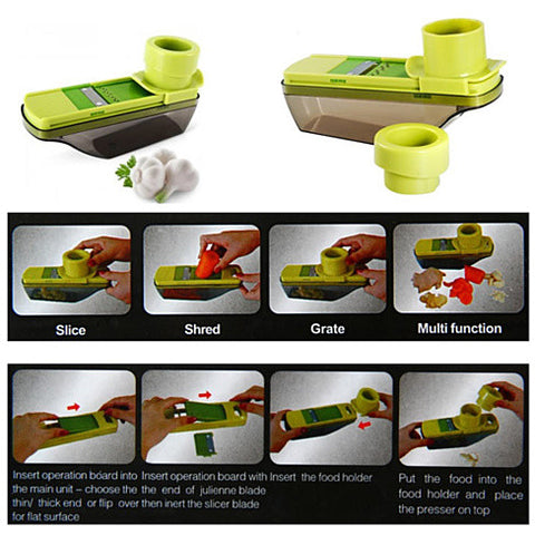 Veggie Lover's Compact Palm Sized Mini Grater and Veggie Slicer - VistaShops - 3