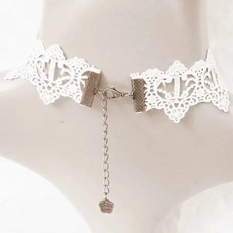The Touch Of Vintage Victorian Style Crochet Necklace and Bracelet Set - VistaShops - 3
