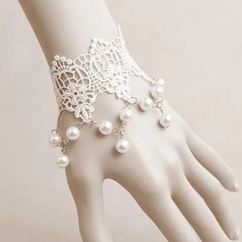 The Touch Of Vintage Victorian Style Crochet Necklace and Bracelet Set - VistaShops - 4