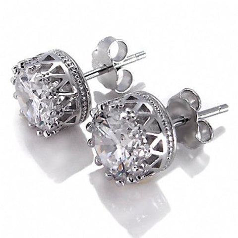 Crown Jewels Earring all set in Sterling Silver - VistaShops - 1