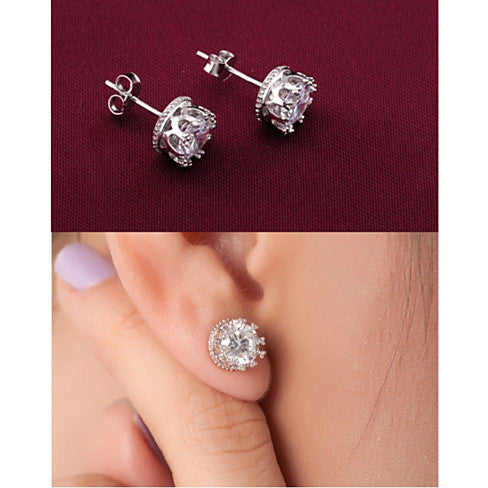 Crown Jewels Earring all set in Sterling Silver - VistaShops - 4