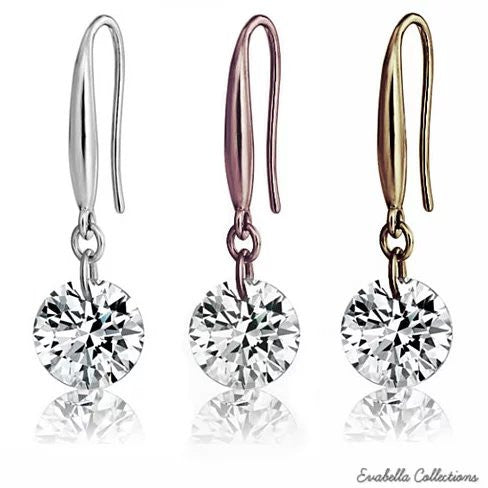 Diamond in the Sky - Drilled Naked Crystal Diamond on a Sterling Silver hook earrings - VistaShops - 1